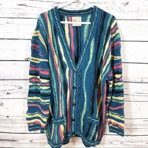 Coogi Classic Vintage Striped Multicolor Cardigan